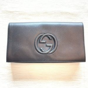 Authentic Gucci Soho Clutch Black